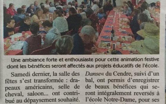 Démonstration  au Vernet Ste Marguerite le 28/09/2019